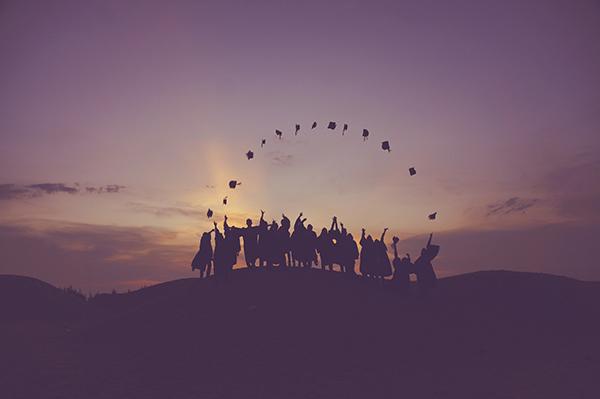 graduation groupe coucher de soleil