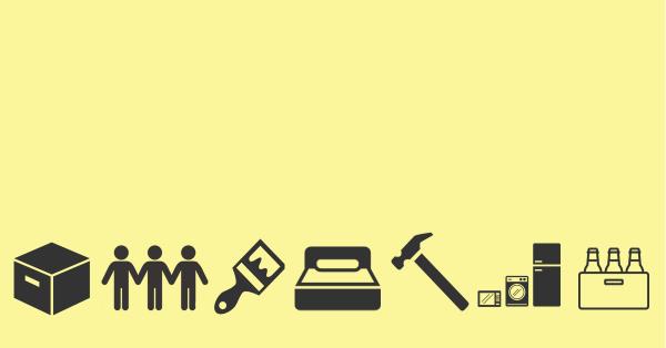 icônes trucs pour demenager